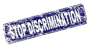 抓停止歧视被构筑的被环绕的长方形邮票 库存例证