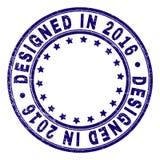 抓构造在2016圆的邮票封印设计了 皇族释放例证