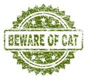 抓织地不很细当心CAT邮票封印 向量例证