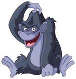 抓头的大猩猩 皇族释放例证