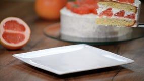 投入在一块白色板材轻松的事葡萄柚 股票录像