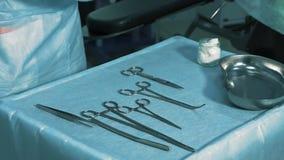 投入在表A医疗仪器的护士 股票视频