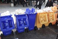 投入服务的垃圾公开:食品废弃部,一般废物, Rec 库存图片