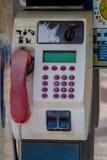 投币式公用电话在西班牙 免版税库存图片