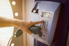 投币式公用电话 免版税库存照片