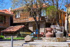 投手在Sozopol古老保加利亚镇  免版税库存照片