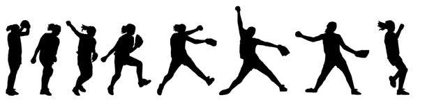 投手垒球 免版税库存照片
