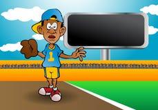 投手棒球运动员 皇族释放例证