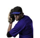 投手棒球运动员 库存照片
