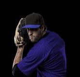 投手棒球运动员 免版税库存图片