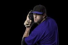 投手棒球运动员 免版税库存照片