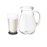 投手用牛奶,传染媒介例证 免版税图库摄影
