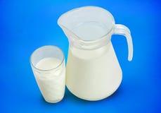 投手用牛奶 免版税库存照片