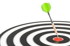 投掷在目标,企业成功,并且解答概念, 3D回报 库存图片