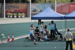 投掷标枪第6场香港比赛 图库摄影