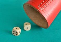 投掷立方体 免版税库存照片