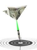 投掷货币目标 免版税图库摄影