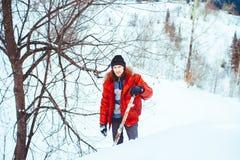 投掷雪铁锹 图库摄影