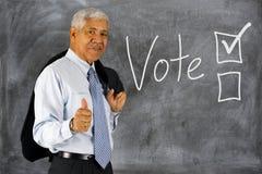投票在竞选 免版税库存照片