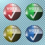 投票按钮,象,标志, 3D例证 免版税库存图片
