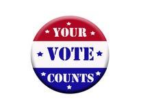 投票按钮 免版税库存照片
