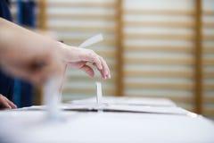 投票的手细节 免版税库存照片