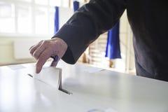 投票的手 免版税图库摄影