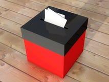 投票的投票箱 库存照片