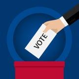 投票的概念 向量例证