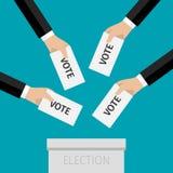 投票的概念 皇族释放例证