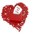 投票的箱子和心脏 图库摄影