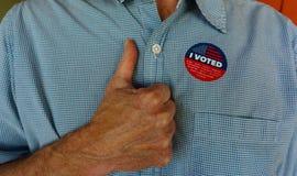 投票的美国,爱国心,民主概念 免版税库存照片