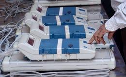 投票的MECHINE 免版税库存照片