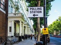 投票站在伦敦, hdr 免版税库存图片