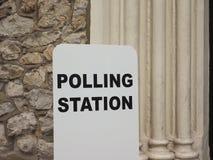 投票站在伦敦 图库摄影