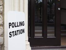 投票站在伦敦 免版税库存图片