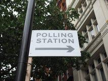 投票站在伦敦 免版税库存照片