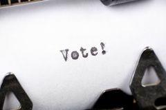 投票 库存照片