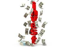 投资与美元 免版税库存图片