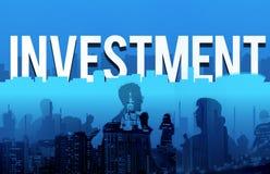 投资企业金融风险管理概念 免版税图库摄影