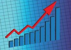 投资市场股票 库存例证