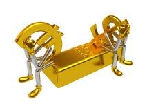 投资的货币对 免版税库存照片