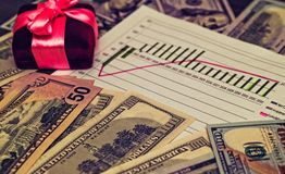 投资的资源 战略计划 货币兑换率 库存图片