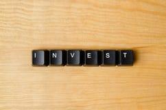 投资词 库存照片