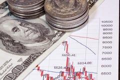 投资货币 库存照片