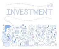 投资Infographics 也corel凹道例证向量 库存图片