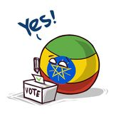 投赞成票的埃塞俄比亚 皇族释放例证