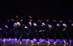 投降这偏僻的舞蹈家现代舞蹈 库存图片
