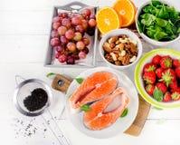 抗氧剂的食物富有 库存照片
