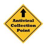 抗病毒收集点符号 库存图片